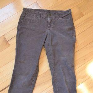 Gap 2 ankle skinny corduroy pants brown cords